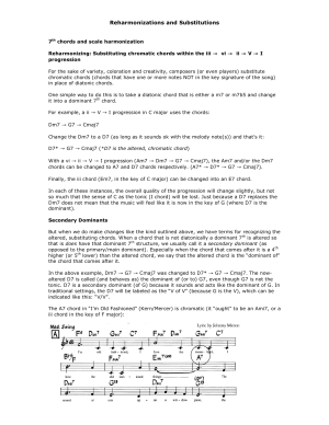 Reharmonizations and Substitutions