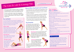 The Race for Life 5k Running Plan